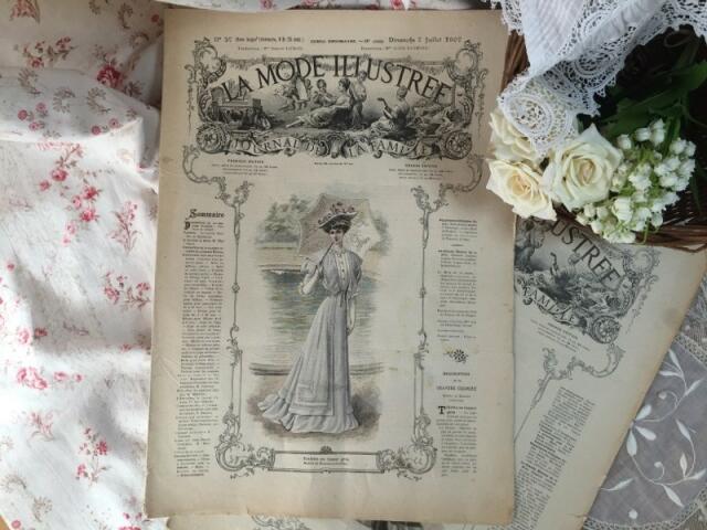 フランスファッション新聞 LA MODE ILLUSTREE ラ・モード・イリュストレ (1907年7月7日)