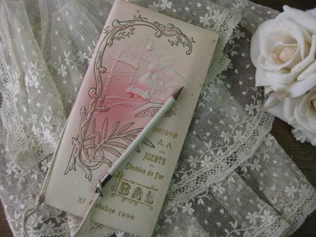 アンティークCARNET DE BAL(舞踏会手帳/Rose)