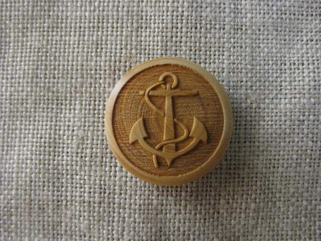 フランス木製ボタン(アンカL)
