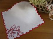 刺繍入りアンティークハンドメイドテーブルナプキン(C)
