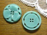 フランスアンティークプラスチックボタンL(green)
