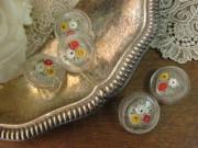フランスアンティークガラスボタン(Fleur/Clair)