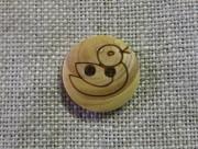 フランス木製ボタン(あひる)