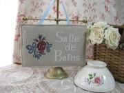 ROSEドアプレート(Salle de Bainsバスルーム)