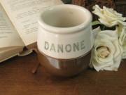 DANONEヨーグルト陶器ポット