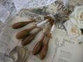 ボビンレース用木製糸巻き5本セット