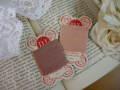 紙製台紙糸巻き(ピンクベージュ)