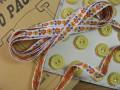 Ruban(Petite fleurs/Jaune et Orange)