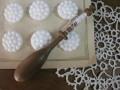 ボビンレース用木製糸巻き(C)
