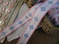 Ruban(Les fleurs/Pink et Bleu)