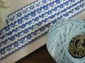 Ruban(Petite fleurs/Bleu)