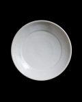 阿南維也 白磁鎬リム付5寸皿