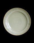 水谷和音 灰釉鎬リム6.5寸皿