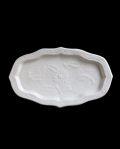 豊増一雄 白瓷魚紋皿