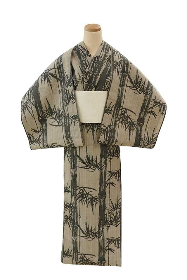 【反物】女性 『松煙染小紋』竹