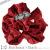親子お揃いシュシュ(ペアヘアアクセサリー)専門店ジュメルベロアツイード高級シュシュDIVAボルドーベロア赤ツイード画像
