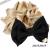 【親子お揃いプレゼント】ベージュサテンとブラックリボンのママシュシュ【出産祝い/誕生日/ジュメル神戸/妻】サイズ