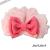 【親子お揃いプレゼント】ピンクシフォンとピンクリボンママシュシュ【出産祝い/誕生日/記念】サイズ