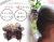 親子お揃いシュシュ(ペアヘアアクセサリー)専門店ジュメルチェックとチョコブラウンリボン子どもシュシュ【出産祝い/誕生日/妻】メイン