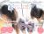 親子お揃いシュシュ(ペアヘアアクセサリー)専門店ジュメルオーガニックコットンブルーボーダーブルーリボンガールズメイン画像1