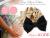 【親子お揃いプレゼント】ベージュサテンとブラックリボンのベビーシュシュ形ラトル【出産祝い/誕生日/ジュメル神戸/子ども】メイン