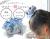 【親子お揃いプレゼント/出産祝い】水色ギンガムチェックとブルーリボンの子どもシュシュ【出産祝い/ペア/誕生日/ジュメル神戸】メイン