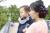 【親子お揃いプレゼント】レッドチェックネイビーリボンママシュシュ【出産祝い/誕生日/オシャレ】メイン 3