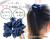 【親子お揃いプレゼント】ネイビーレースと紺ドットリボンの子どもシュシュ【出産祝い/ペア/誕生日/ジュメル神戸】メイン1