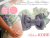 【親子お揃いプレゼント】ピンクドットグリーンとブルーリボンのベビーシュシュ形ラトル【出産祝い/誕生日/ジュメル神戸/記念】メイン