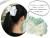 【親子お揃いプレゼント/高級シュシュ】グリーンツイードと白リボンママシュシュ【出産祝い/ペア/誕生日/ジュメル神戸】画像