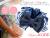 【親子お揃いプレゼント】ネイビーボーダーとネイビーリボンのベビーシュシュ【出産祝い/誕生日/ジュメル神戸/クリスマス】メイン