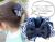 【親子お揃いプレゼント】ネイビーボーダーとネイビーリボンのママシュシュ【出産祝い/誕生日/ジュメル神戸/クリスマス】画像2