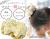 【親子お揃いプレゼント/高級シュシュ】イエローツイードと白ドットリボンの子どもシュシュ【出産祝い/ペア/誕生日/ジュメル神戸】メイン