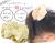 【親子お揃いプレゼント/高級シュシュ】イエローツイードと白ドットリボンの子どもシュシュ【出産祝い/ペア/誕生日/ジュメル神戸】2