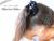 親子お揃い(ペアヘアアクセサリー)専門店ジュメルブラックサテンと黒ドットリボンガールズシュシュ【出産祝い/誕生日/子ども】メイン2