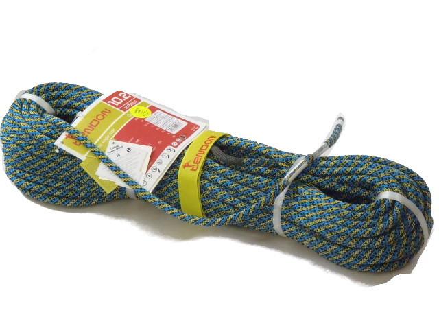 テンドン クライミングロープ アンビション 10.2mm 60m ブルー×イエロー コンプリートシールド加工