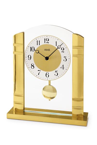 振り子付きインテリア置き時計。特別なギフトにもふさわしいインテリア置き時計(2色)AMS1118