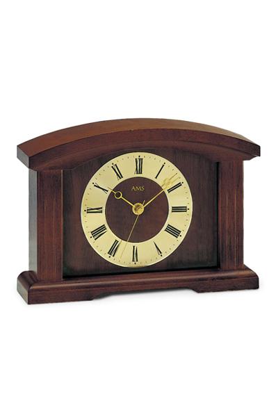 天然木の高級仕上げた置き時計。温もりを感じさせらる伝統的スタイルの置き時計(3色)AMS5138-1