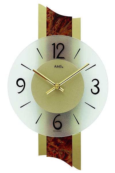 スタイリッシュなデザイン掛時計。AMS9393/ゴールド