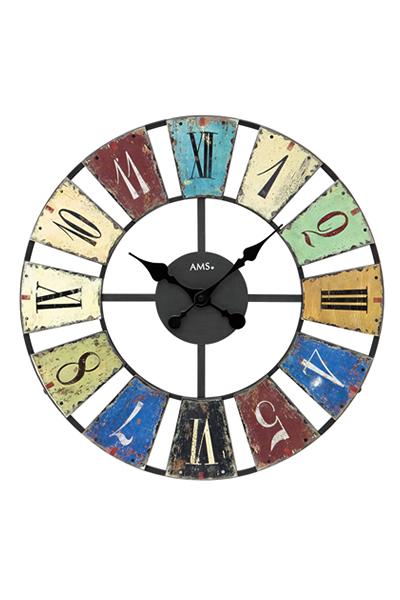 おしゃれなレトロ調アイアンデザイン掛け時計。 AMS9465