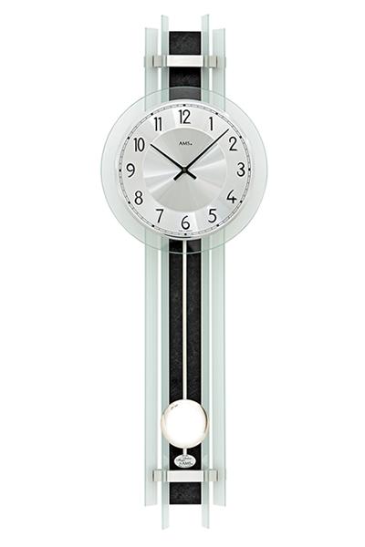 スタイリッシュなデザイン振り子掛け時計。AMS7250
