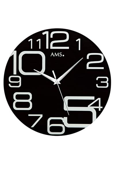 ポップなデザイン掛け時計AMS9461(ブラック)