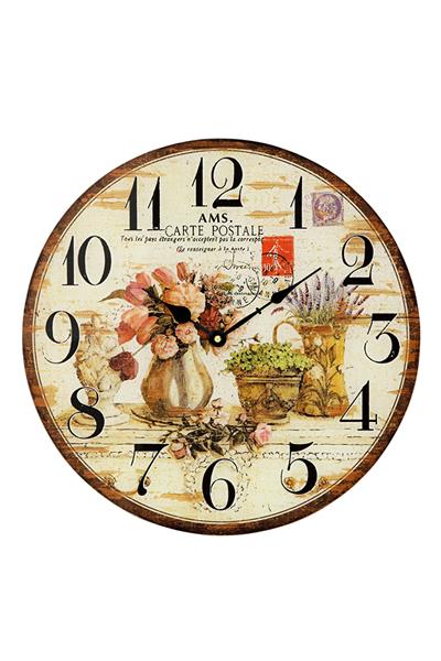 おしゃれなレトロ調インテリア掛け時計。 AMS9466