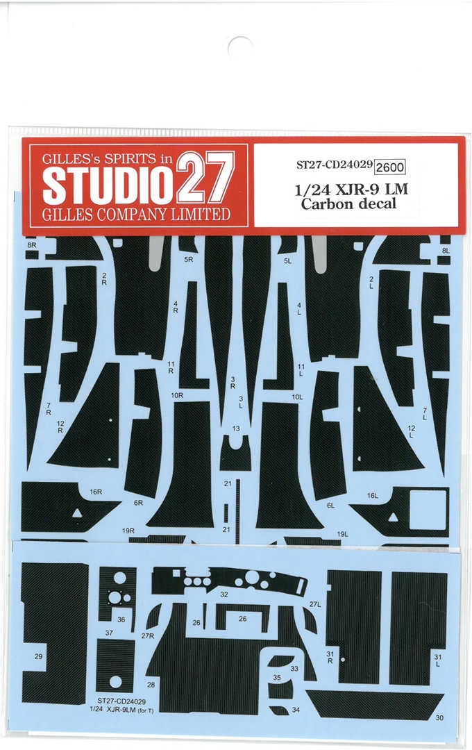 CD24029 1/24 XJR-9 LM Carbon decal (T社1/24対応)