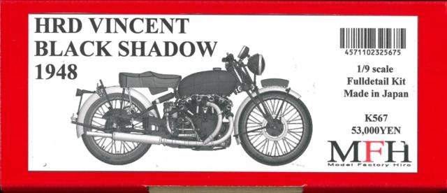 K567 HRD VINCENT BLACK SHADOW 1948  1/9scale Fulldetail Kit