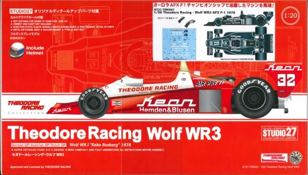 TRK007 1/20 Theodore Racing・Wolf WR3 AFX F-1 1979  1/20scale