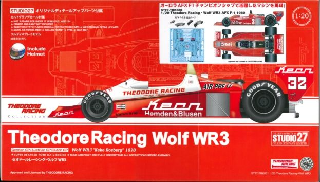 TRK008 1/20 Theodore Racing・Wolf WR3 AFX F-1 1980   1/20scale