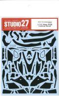 CD12006  1/12 Ninja H2R Carbon decal  (T社1/12NinjaH2R対応)