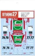 "DC1184  1/24 Civic""Castrol"" #76/#77 National Saloon car cup 1993 (H社1/24対応)"