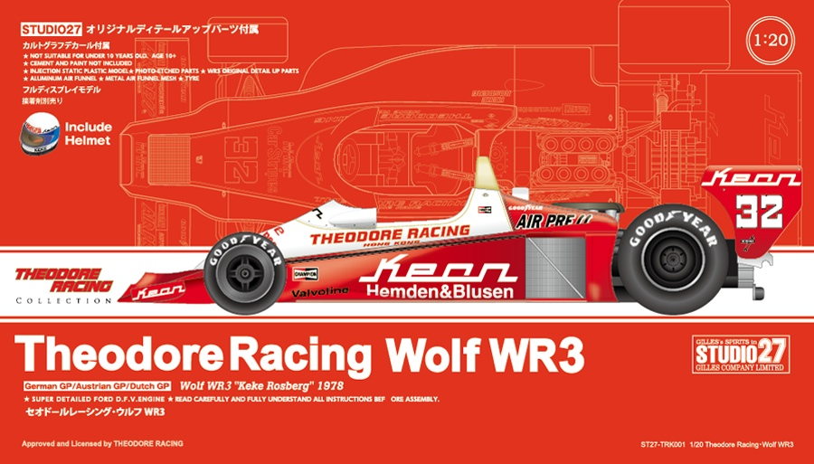 TRK001 Theodore Racing・Wolf WR3   1/20 sacle